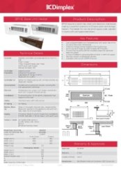 Dimplex BFHE Specification Sheet