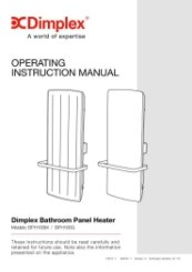 Dimplex BPH Operating Instruction Manual