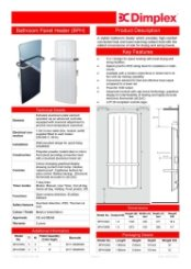 Dimplex BPH Specification Sheet