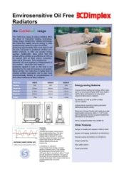 Dimplex Cadiz Technical Specification Data Sheet