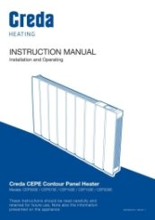 Creda Contour Panel Heater Instruction Manual
