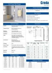 Creda CLR Specification Sheet