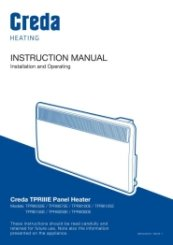 Creda TPRIIIE Installation and Operating Manual
