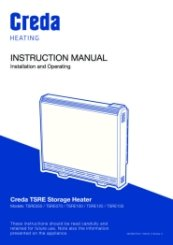 Creda TRSE EcoDesign Storage Heater Instructions