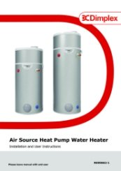 Edel Heat Pump Water Cylinder Installation and User Instructions