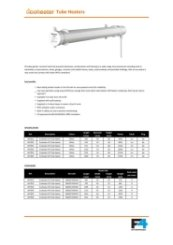 Ecoheater Standard Heater Specification 0717