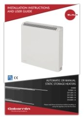 Elnur Sh24m Manual Static Storage Heater 3400w Heater Shop