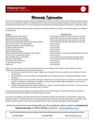 Elnur Warranty Information Sheet