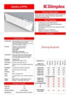 Dimplex Saletto LPPE  Specification Sheet