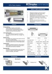 Dimplex OPH Specification Sheet