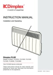 Dimplex PLXE Instruction Manual