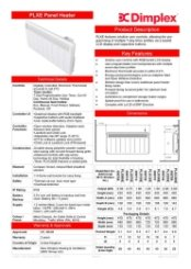 Dimplex PLXE Specification Sheet