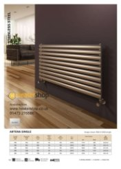Reina Artena Single Brushed Radiator