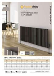 Reina Neval Single Horizontal Radiator