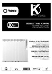 Rointe K Series Radiator Manual