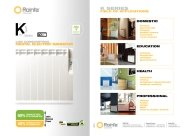 Rointe K Series Radiator Technical Sheet