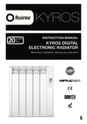 Rointe Kyros Instruction Manual