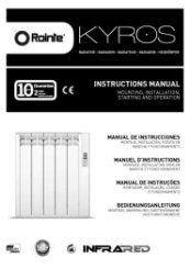 Rointe Kyros Radiator Instruction Manual