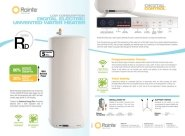 Rointe RD Series Water Heater Technical Sheet
