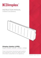 Dimplex Saletto LPPE Installation & Operating Manual