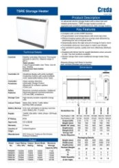 Creda TRSE EcoDesign Storage Heater Technical Specifications
