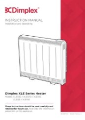 Dimplex XLE Instruction Manual