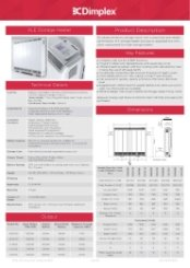 Dimplex XLE Specification Sheet