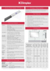 Dimplex Girona Panel Heaters Specification Sheet