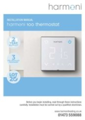 Harmoni 100 Thermostat Manual