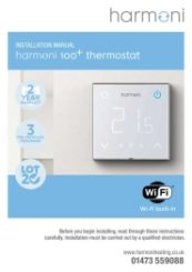 Harmoni 100Plus Thermostat Manual