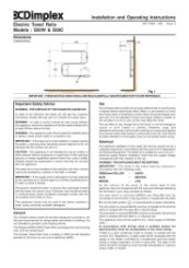 Dimplex S50 Towel Rail Instructions