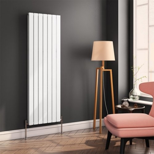 Reina Flat RND-FL167W Single White Vertical 514 x 1600mm