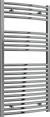 Reina Diva AG60120CC Chrome Curved Towel Rail 600 x 1200mm