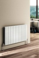 Reina Flat RND-FL08W Single White Horizontal 588 x 600mm