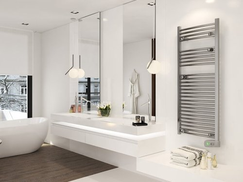 Rointe Kyros KTI050SEB3 500W White Electric Towel Rail 1300mm