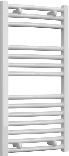 Reina Diva AG40800WC White Curved Towel Rail 400 x 800mm