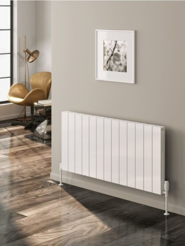 Reina Casina A-CSN060123WD Double White Textured Horizontal Radiator 1230 x 600mm