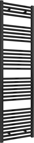 Reina Diva AG50180BF Black Flat Towel Rail 500 x 1800mm